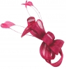 Elegance Collection Loops Clip Fascinator in Fuchsia