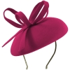 Failsworth Millinery Aliceband Wool Pillbox in Fuchsia