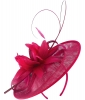 Failsworth Millinery Shaped Sinamay Disc in Fuchsia