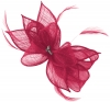 Failsworth Millinery Sinamay Diamante Clip Fascinator in Fuchsia