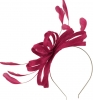 Failsworth Millinery Sinamay Loops Fascinator in Fuchsia