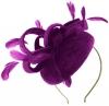 Failsworth Millinery Velvet Pillbox Headpiece in Fuchsia
