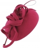 Failsworth Millinery Wool Pillbox in Fuchsia
