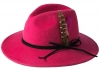 Failsworth Millinery Brushed Wool Felt Trilby in Fuchsia