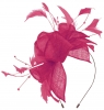 Max and Ellie Diamante Fascinator in Fuchsia