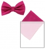 Max and Ellie Mens Bow Tie and Pocket Square Set in Fuchsia