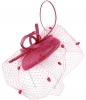 Max and Ellie Pillbox Fascinator in Fuchsia