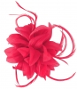 Aurora Collection Flower and Biots Fascinator in Fuschia