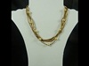 Tube Bead Necklace in Gold
