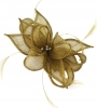 Failsworth Millinery Sinamay Clip Fascinator in Gold