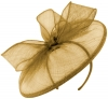 Failsworth Millinery Sinamay Disc in Gold
