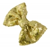 Molly and Rose Sequin Hair Bow in Gold