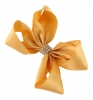 Molly and Rose Small Diamante Hair Bow in Gold