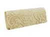 Papaya Fashion Lace Pattern Evening Bag in Gold