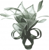 Max and Ellie Lily Comb Fascinator in Graphite