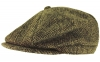 Boardman Harris Tweed Bakerboy Cap in Green