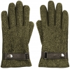 Boardman Harris Tweed Wool Gloves in Green