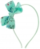 Daisy Daisy Aliceband Floral Bow in Green