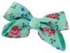 Daisy Daisy Floral Double Bow Hair Clip in Green