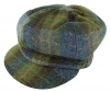 Failsworth Millinery Harris Tweed Bakerboy Cap in Green
