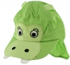 Jiglz Hippo Cap with Neck Protector in Green
