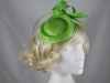 Aurora Collection Quill and Loops Headpiece in Green