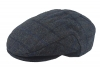 Failsworth Millinery Waterproof Tweed Porelle Cap in Grey & Blue