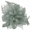 Aurora Collection Flower Comb Fascinator in Grey