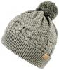 Boardman Finley Cable Knit Beanie Bobble Hat in Grey