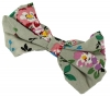 Daisy Daisy Floral Bow Hair Clip in Grey