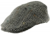 Hawkins Chunky Wool Flat Cap in Grey