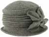Hawkins Collection Wool Vintage Bow Hat in Grey