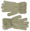 Hawkins Ladies Sequined Popcorn Yarn Gloves in Grey