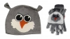 Jiglz Fleece Animal Ski Hat and Gloves in Grey
