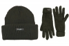 SSP Hats Thinsulate Chunky Beanie with Matching Gloves in Grey