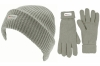 SSP Hats Thinsulate Ladies Beanie with Matching Gloves in Grey