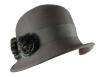 Victoria Ann Pom Pom Winter Hat in Grey