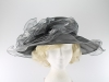 Wide Brimmed Occasion Hat in Grey