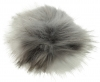 Zelly Detachable Bobble Pom Pom in Grey