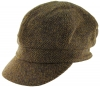 Failsworth Millinery Harris Tweed Bakerboy Cap in HT45 - Brown