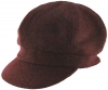 Failsworth Millinery Harris Tweed Bakerboy Cap in HT60 - Wine