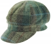 Failsworth Millinery Harris Tweed Bakerboy Cap in HT66 - Blue