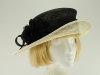 Hat Box Black and Cream Wedding Hat