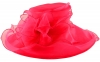 Libby Bea Collapsible Occasion Hat in Hot Pink