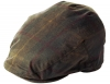 Failsworth Millinery Wax Flat Cap in Hunter-Brown