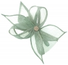 Elegance Collection Diamante Clip Fascinator in Ice Blue