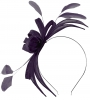 Failsworth Millinery Aliceband Sinamay Fascinator in Indigo