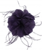 Failsworth Millinery Feather Fascinator in Indigo