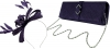 Failsworth Millinery Sinamay Loops Fascinator with Matching Sinamay Bag in Indigo