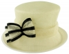 Failsworth Millinery Two Tone Bow Wedding Hat in Ivory & Black